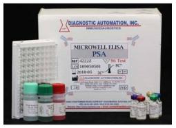 تعیین کمی غلظت PSA به روش الایزا در سرم انسان (Cancer ELISA kits)