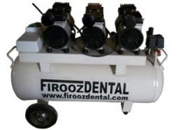 کمپرسور دندانپزشکی سه یونیت فیروزدنتال با موتور 850